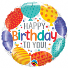 "Birthday To You Balloons Foil Balloon (18"") 1pc"